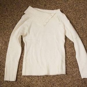 Cream colored womens sweater